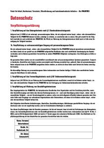 Verpflichtungserklärung zum Datenschutz – Seite 1