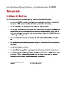 Verpflichtungserklärung zum Datenschutz – Seite 2